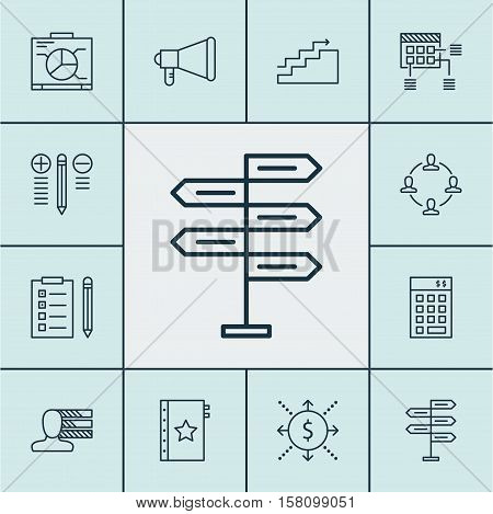 Set Of Project Management Icons On Investment, Warranty And Opportunity Topics. Editable Vector Illu