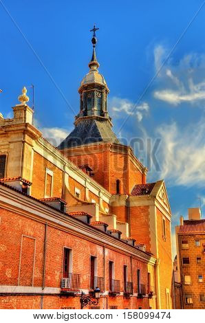 Iglesia del Sacramento, a Baroque-style Roman Catholic church located in Madrid - Spain