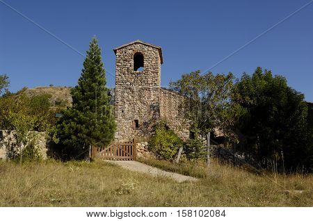 Church of Cava Lleida province Catalonia Spain