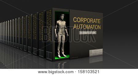 Corporate Automaton Endless Supply of Labor in Job Market Concept 3d Illustration Render
