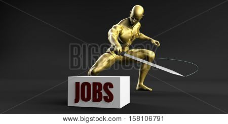 Reduce Jobs and Minimize Business Concept 3d Illustration Render