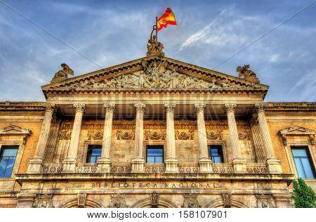 The Biblioteca Nacional de Espana, the largest public library in Spain - Madrid
