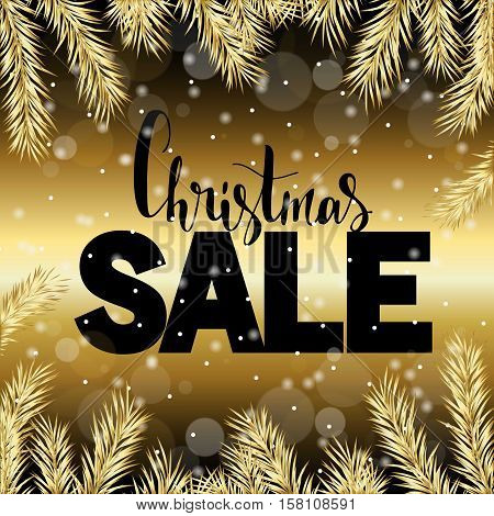 Christmas sale gold elegant glitter background. Gold shine sparkles background. New year eve and Christmas sale logo for banner web header and flyer design