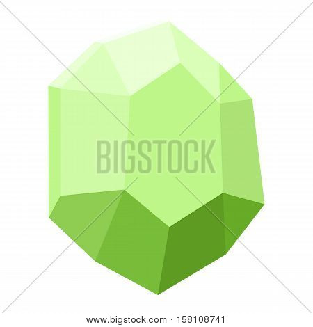 diamond isolated on white background, gemstone colorful