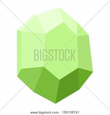 diamond isolated on white background, gemstone colorful