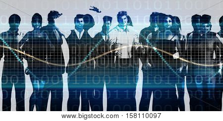 Business People Team Communicating and Working Together 3d Illustration Render