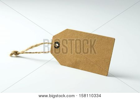 Blank paper price tag with copy space