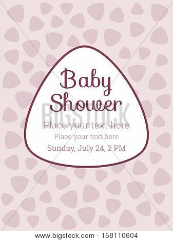 Baby Shower / Birthday party invitation card template, for baby girl or boy. Modern design elements for postcard, invitation, banner, flyer, collage, decoration, background. Vector illustration Eps10