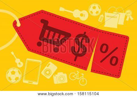 super sale shopping discount label vector illustration