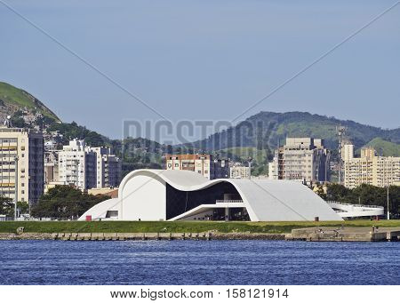 Oscar Niemeyer Theatre In Niteroi