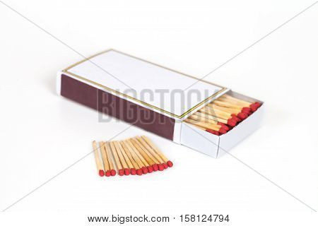 open new Matchbox isolate on white background