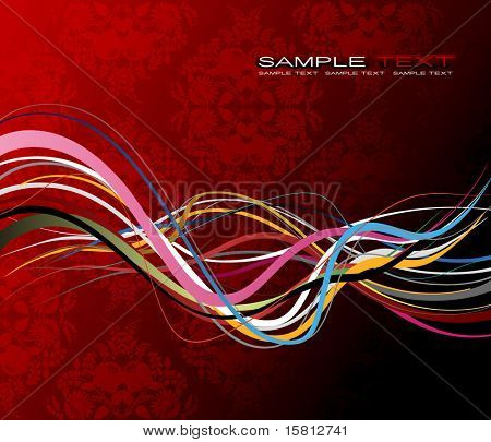 Abstract illustration with lines. Vector