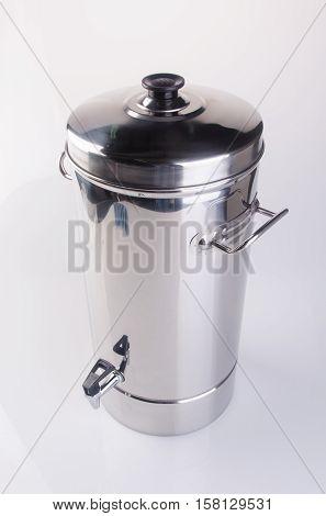 Water Dispenser Or Beverage Dispenser On The Background.