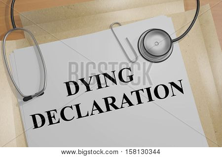 Dying Declaration - Medical Concept