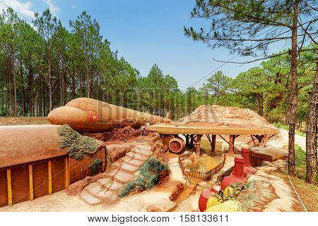 Amazing Airplane Of Clay Among Green Woods, The Dalat Star