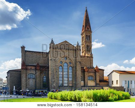 View Of The Basilica Of Santa Maria Novella In Florence, Italy