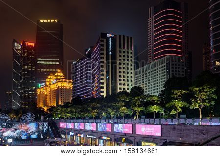 Night View Of The Zhujiang New Town In Guangzhou, China