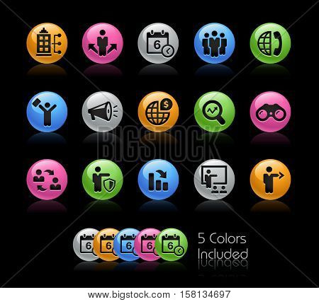 Business Opportunities and Strategies Icons / The file Includes 5 color versions in different layers.