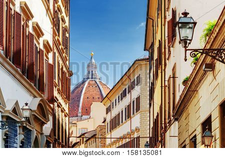 View Of Dome Of The Florence Cathedral, Tuscany, Italy