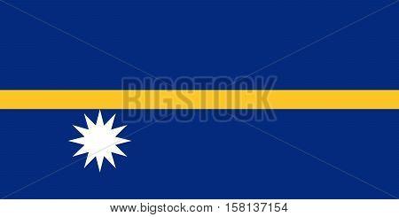 Official vector flag of Nauru . Republic of Nauru .