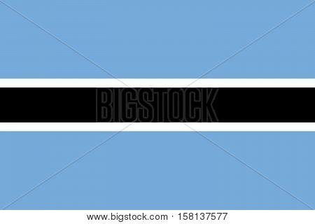 Official vector flag of Botswana . Republic of Botswana .
