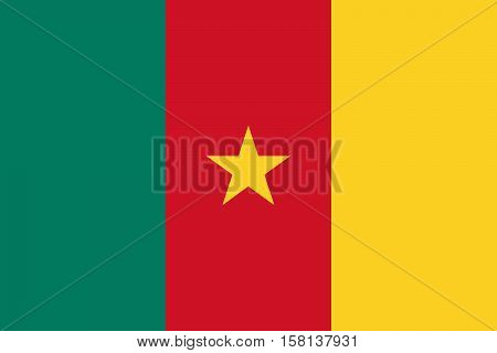 Official vector flag of Republic of Cameroon .