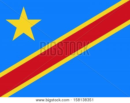 Official vector flag of Democratic Republic of the Congo . ( DR congo , DRC , DROC )