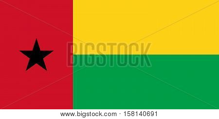 Official vector flag of Guinea-Bissau . Republic of Guinea-Bissau .