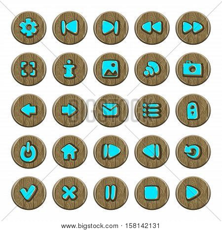 Set of vector button for game design. Mobile elements for ui game.