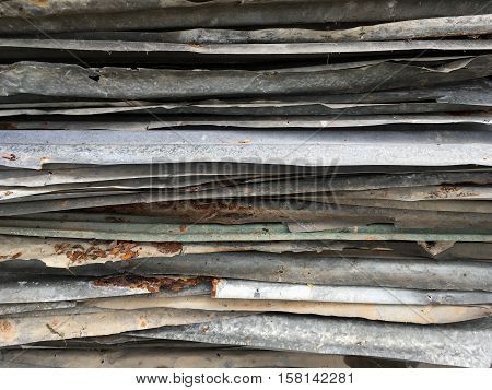 close up old rusty zinc plat texture