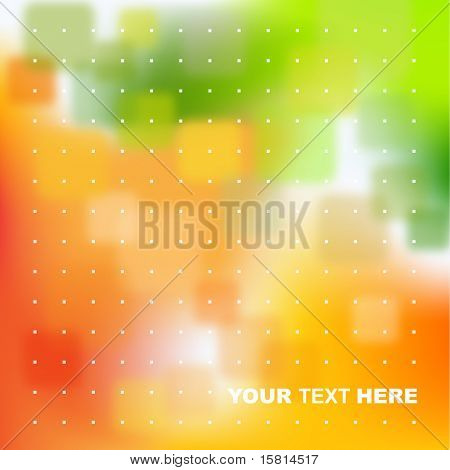 Green, orange abstract background