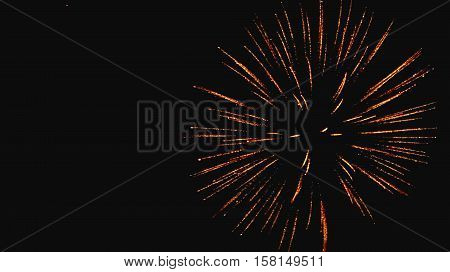 Fireworks on the night sky 2016. Celebration. Fireworks background. Firecracker.