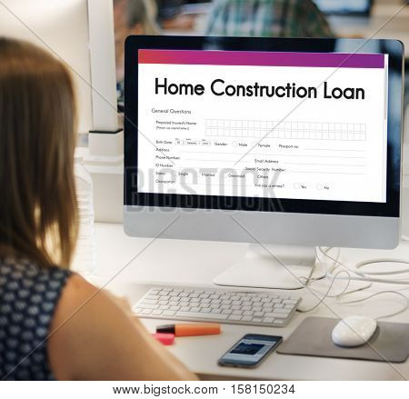 Home Construction Loan Document Form Concept