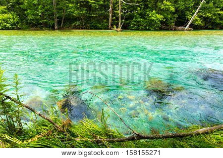 Kamikochi Azusa River Colorful Turquoise Water H