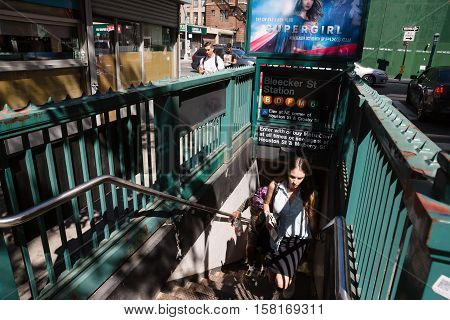 Entrance To Nyc Subway Station