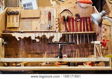 Instruments in workroom