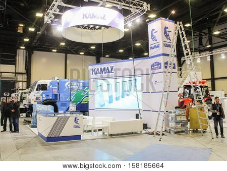 St. Petersburg, Russia - 2 October, Preparatory work in the vehicles sector, 2 October, 2016. Construction and preparation work for the St. Petersburg Gas Forum.
