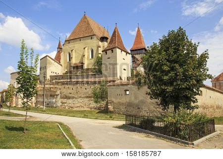 The fortress of old saxon fortified church in Transylvania