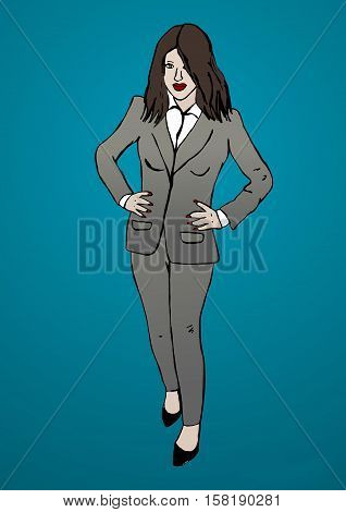 Image of a Business woman with suit