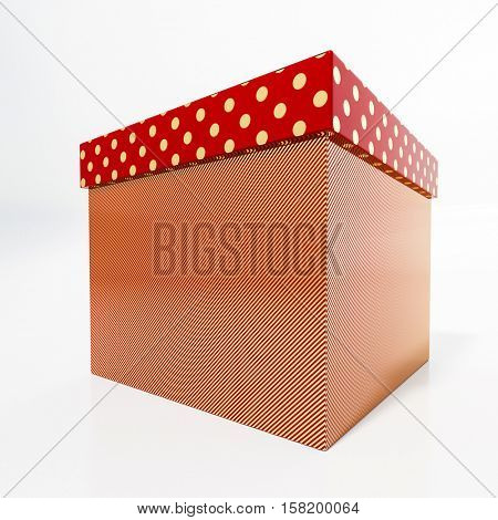 Red Cardboard Gift Box, Packaging for Shopping and Gift, Red Christmas Gift, Red Cube, Red Polka Dot Gift Box, Anniversary Gift, Red Shoe Box, Red Christmas Present, Present Box, Birthday Present