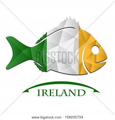 fish logo made from the flag of Ireland.
