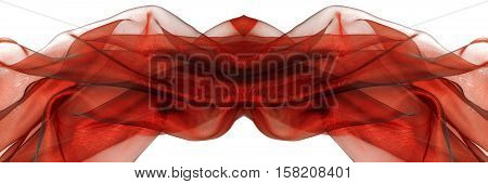 wavy red organza big border panoramic size