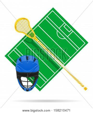 lacrosse field vector illustration isolated on white background