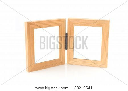 couple picture frame on isolated white background.