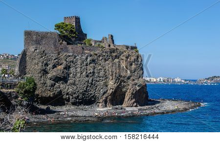Aci Castello Castle In Sicily, Italy