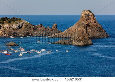 Cyclops Archipelago In The Aci Trezza Bay.