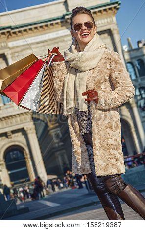 Woman Near Galleria Vittorio Emanuele Ii Looking Into Distance