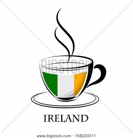 coffee logo made from the flag of Ireland