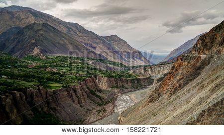 Kunar aka Chitral or Kama river Khyber Pakhtunkhwa province Pakistan