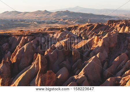 Cappadocia Wonderful Landscape View.